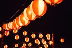 夏祭りの提灯