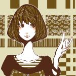影絵のキツネの手をした少女
